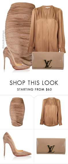 """Untitled #1229"" by tamararenaye ❤ liked on Polyvore featuring Yves Saint Laurent, Christian Louboutin and Louis Vuitton"
