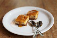 London Cheesecake mit Passionsfrucht. Hmmm...   (Cheesecake: mit Eiern, Gluten)