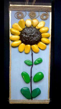 Flower Of Sun Pebble artStone ArtHome DecorWall от ArtGiftsNatural