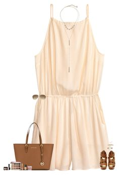 """""""-stuck in her daydream-"""" by maggie-prep ❤ liked on Polyvore featuring H&M, Kendra Scott, MICHAEL Michael Kors, tarte, NARS Cosmetics, Too Faced Cosmetics, Kate Spade and Ray-Ban"""