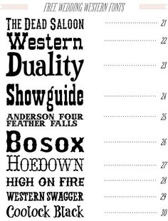 Free Western Wedding Fonts Downloadable