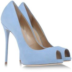 GIUSEPPE ZANOTTI DESIGN Open toe (€650) ❤ liked on Polyvore featuring shoes, pumps, heels, sapatos, blue, sky blue, platform pumps, high heel pumps, blue open toe pumps and leather pumps