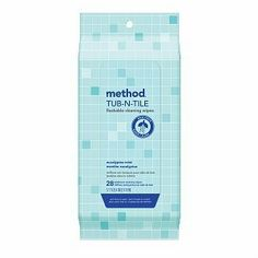 Wipes Flushable Bath Cleaner 28 Count by Method Products. $8.28. flushable bathroom cleaner wipes eucalyptus mint,  potty time wipes.ever feel like certain people using your toilet could use a littlecoaching? practice? aim? set this hardworking package of our flushable wipes nearby, and you (or ahem, he) can wipe and flush at any moment for an instant clean. great for clean-ups all over the bathroom  sinks, countertops faucets and tile  and they're always septic ...