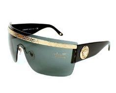 39d908ae5fa0 Versace Sunglasses VE 2130 1252 87 Acetate plastic Black - Gold Grey  Versace.  171.33