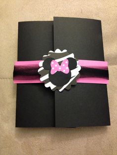 Minnie Mouse Zebra Print Card