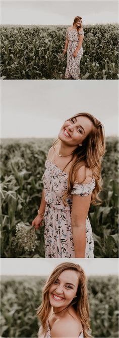 Boise Senior Photographer Makayla Madden Photography Summer Senior Pictures Posing and Location Ideas and Inspiration Cornfield Linder Farms Idaho Floral Dress Flowers Raw and Real