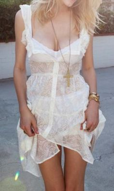 boho-edgey- little white dress