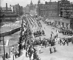 The grand opening of the new Subway Street (Broad Street) c. 1924