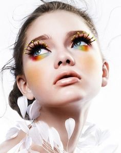 harlequin makeup with a twist
