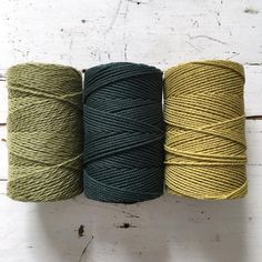 Twisted Macrame Cotton Rope • Cold Palette • 1.5 mm – ChompaHandmade