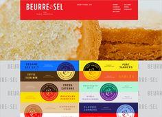 Innovative web layout by Beurre & Sel via Smashing Magazine