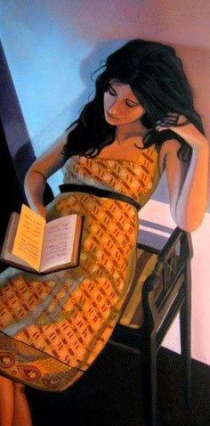 """Woman reading"" by Joseph Dawson"