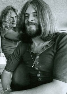 Robert Plant and John Paul Jones of Led Zeppelin #RobertPlant #JohnPaulJones #LedZeppelin #LedZep #Zep