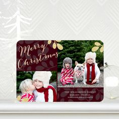 Shining Stems - #Christmas Cards - simplyput by Ashley Woodman in a Rich Burgundy Red