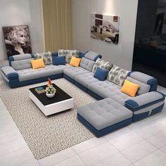 Amazing 39 Lovely Living Room Sofa Design Ideas For Cozy Home To Try Living Room Sofa Design, Living Room Interior, Living Room Designs, Living Rooms, Contemporary Living Room Furniture, Home Decor Furniture, Sofa Furniture, Luxury Furniture, Modern Furniture