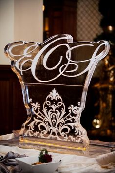 Monogram Ice Sculptures for Weddings | monograms