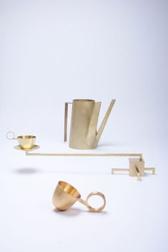 Young Guns 2015 Jeongwha Seo from Seoul designed Obstruction teaset in brass