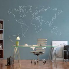 World map decal political world map wall decal wall sticker world map decal political world map wall decal wall sticker removable 1 jenns study pinterest wall decals wall sticker and vinyl wall stickers gumiabroncs Choice Image