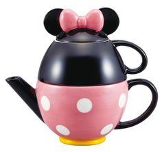Amazon.com: Disney tea set Minnie Mouse (pot and mug) SAN2171 (japan import)…