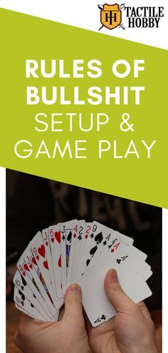 Rules of Bullshit (Cheat) - Setup & Game Play - The card game known as Bullshit (aka Cheat, B., Bluff) is a card game where players attempt to de - Solo Card Games, Gift Card Games, Party Card Games, Family Card Games, Card Games For Kids, Playing Card Games, Games For Teens, Card Games To Play, Two Person Card Games