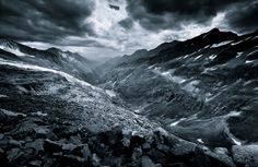 Monochromatic Alps by Jakub Polomski, via Behance