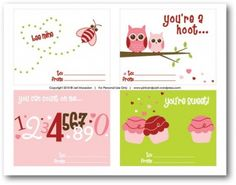 free printable kids Valentine's Day cards