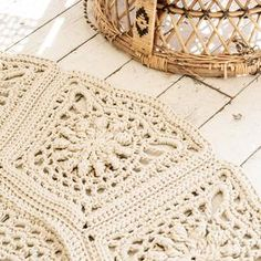 Crochet Rug Patterns, Crochet Motif, Crochet Shawl, Crochet Doilies, Knit Crochet, Double Crochet, Single Crochet, Macrame Purse, Jute Rug