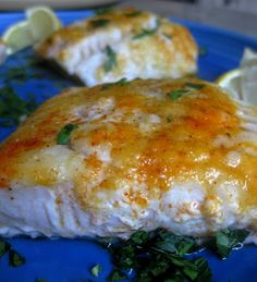 Baked Lemon Cod a light and healthy weeknight meal.