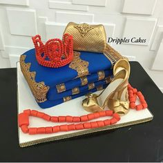 In Nigeria, we have quite talented and creative bakers who bring our ideas to life and we will be bringing to your view the creative works of few among them… Nigerian Traditional Wedding, Traditional Wedding Decor, Traditional Cakes, Art Birthday Cake, Birthday Wishes Cake, Wedding Cake Cookies, Wedding Cakes With Cupcakes, Square Wedding Cakes, Wedding Cake Designs