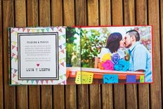 Cinco de Mayo Mexican fiesta wedding engagement photo guestbook designed by The Goodness Cinco De Mayo Traditions, Cute Wedding Ideas, Wedding Inspiration, Photo Guest Book, Offbeat Bride, Wedding Colors, Wedding Decor, Mexican Party, Wedding Invitation Design