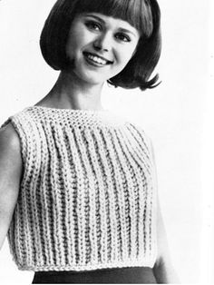 The   Vintage   Pattern   Files: 1960's Knitting - Let's Call It A Shell