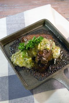 Let's Cook Foodies !: Grilled Ostrich Steak w/ Parsley Mustard Butter