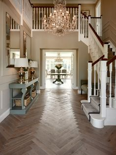 Trendy Ideas For Farmhouse Interior Stairs Foyers Foyer Design, Hallway Designs, Staircase Design, House Design, Interior Stairs, Interior Exterior, Interior Livingroom, Farmhouse Interior, Farmhouse Style