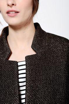 Manteau Lilas Noir - Manteau - Des Petits Hauts Couture, Tie, Inspiration, Women, Fashion, Spring Summer, Fall Winter, Coats, Biblical Inspiration