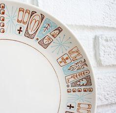 Vintage Atomic Starburst Plate ~ Kibster Vintage