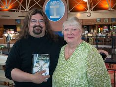 Abigail with Stephen Zimmer, fantasy writer of Heart Of A Lion