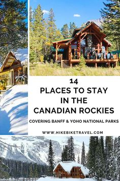 14 places to stay in the Canadian Rockies covering Banff