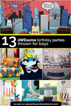13 Awesome Birthday Parties Thrown for Boys. These ideas can also be used to throw your little boy Baby Shower celebration. Twin Birthday Parties, Baby Boy First Birthday, Birthday Party Games, Birthday Party Decorations, Birthday Boys, Birthday Ideas, Preschool Birthday, Kid Parties, Theme Parties