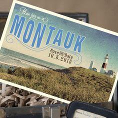 Vintage Travel Postcard Save the Date (Montauk, New York)