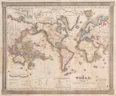 The world, on Mercator's projection / by David H. Burr - ID: ps_map_205 - NYPL Digital Gallery