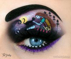 halloween eye makeup idea, body art