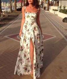 New Dress Floral Outfit Beautiful Ideas Trendy Dresses, Cute Dresses, Beautiful Dresses, Casual Dresses, Awesome Dresses, Romantic Dresses, Casual Bags, Elegant Dresses, Casual Shoes