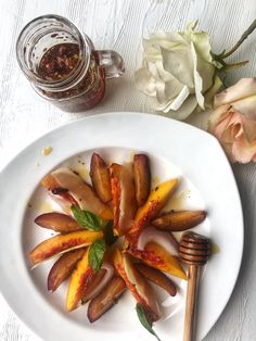 Kitchen Therapy | Peach + Hot Honey Salad - Kitchen Therapy