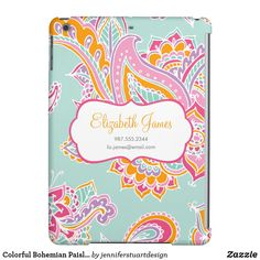 Colorful Bohemian Paisley Case For iPad Air