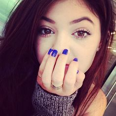 Love this color on nails #kyliejenner #kyliejennernails #nails