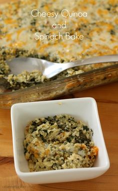 Cheesy Quinoa and Spinach Bake | A Sweet Baker - This looks really yummy - need to try it!!