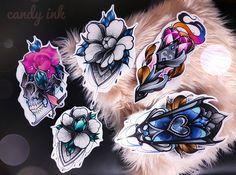 #neo #traditional #dark #girly #tattoo #design #flower #peony #skull #rose #emerald #lace #crystal #diamond #glass #heart #fire #torche #lantern