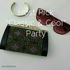 """~HP Classic & Cool~  Black Boho Hard Clutch """"HOST PICK"""" Classic & Cool. Cute & Trendy. Perfect for Summer. Normal Condition.  Scratching On The Gold Trim Of Hardware.  > MEASUREMENTS  Length; 6 1/2"""" Height : 4"""" Width: 1 1/2""""  Please Ask Questions Before Purchasing  ALL SALES ARE FINAL  ■NO TRADES ■NO PAYPAL  ■NO HOLDS ■NO LOW BALL OFFERS Bags Clutches & Wristlets"""