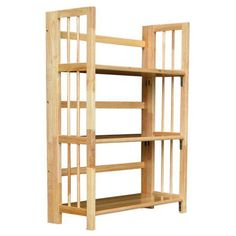 Dorm Room Bookcase 3 Tier Folding Student Office Furniture Natural Bookcases