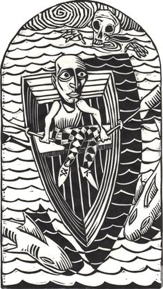 The Linocut Dance of Death  The Dance of Death by Kreg Yingst    From the collection of Richard Sica